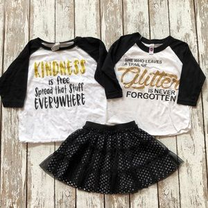 Other - Cute Boutique raglan shirts with Target skirt 4/6